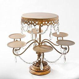 Opulent Treasures (Antique Gold) Tiered Dessert Stand, Chandelier Accents, Cupcake, Cake Pop, Mini C   Amazon (US)