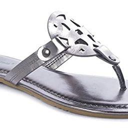 Pierre Dumas Limit-11 Ladies Ornament Thong Sandal | Amazon (US)