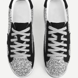 Sequin Decor Lace-up Sneakers | SHEIN