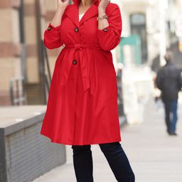 Pleated Trench Coat   Jessica London