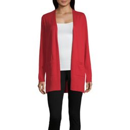 Liz Claiborne Simply Womens Long Sleeve Open Front Cardigan | JCPenney
