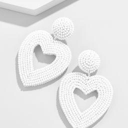 Vionnet Heart Drop Earrings | BaubleBar (US)