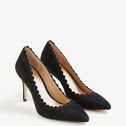 Mila Scalloped Suede Pumps   Ann Taylor (US)