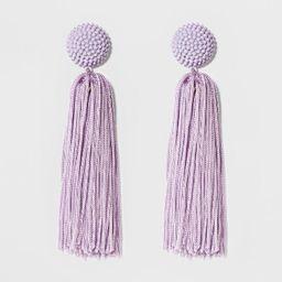 SUGARFIX by BaubleBar Beaded Studs Tassel Drop Earrings - Lilac | Target