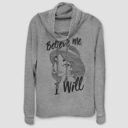 Women's Disney Jasmine Believe Me Sweatshirt - Gray | Target
