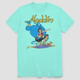 Men's Disney Aladdin Flying Buddies Short Sleeve Graphic T-Shirt - Mint L | Target