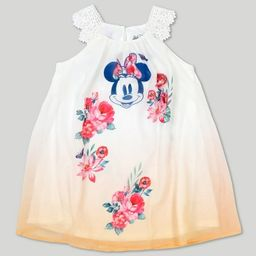 Toddler Girls' Disney Mickey Mouse & Friends Minnie Mouse Short Sleeve Dress - Yellow   Target
