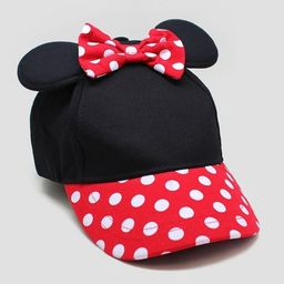 Toddler Girls' Minnie Mouse Baseball Hat - Black/Red One Size Fit Most | Target