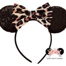 Animal kingdom Ears, Animal Kingdom Minnie Ears, Leopard print Minnie mouse ears, cheetah Mickey ear | Etsy (US)