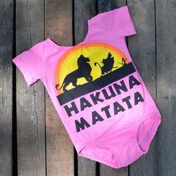 pink lion King tshirt leo dress romper- hakuna matata custom romper dress - jersey romper - custom d | Etsy (US)