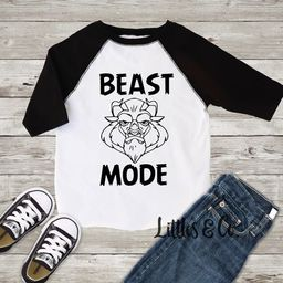 Beast Mode Disney Toddler Boy Clothes / Beast Mode Shirt / Big Brother / Tough Guy / Back To School    Etsy (US)