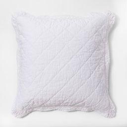 Crochet Trim Linen Euro Pillow Sham - Simply Shabby Chic® | Target