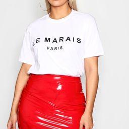 Plus Le Marais Slogan T-Shirt   Boohoo.com (US & CA)