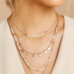 Discovered Treasure Gold And Ivory Necklace Set | Red Dress