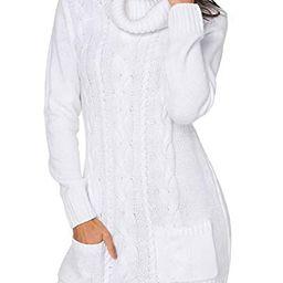Azokoe Womens Winter Casual Slim Fit Knit Sweater Bodycon Mini Dress   Amazon (US)