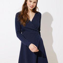Petite Geo Jacquard Knit Wrap Dress | LOFT | LOFT