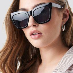 Square Shape Chunky Sunglasses Black | NA-KD Global