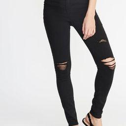 High-Rise Secret-Slim Pockets Distressed Rockstar Jeans for Women | Old Navy US