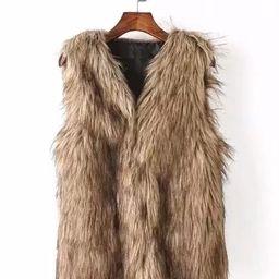 Faux Fur Vest | SHEIN