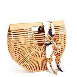 Bamboo Handbag Handmade Tote Bag Handle Straw Beach Bag for Women By Samuel   Amazon (US)