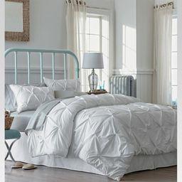 White Pinched Pleat Comforter Set (King) 3pc - Threshold™ | Target