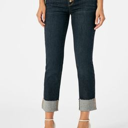 Button Front Vintage Slim Cuff Jeans | JustFab