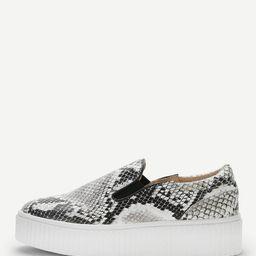 Snakeskin Pattern Sneakers | SHEIN