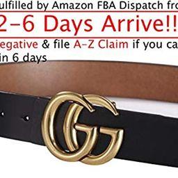~USA Fast 2-6 Days Deliver Guarantee FBA~ Standard Size Gold Buckle Women Leather Belt ~3.8cm Belt W | Amazon (US)