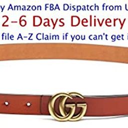 (2-7 Days Fast USA Deliver Guarantee Fulfilled by Amazon) Tiny Buckle Style Women Extra Slim Leather | Amazon (US)
