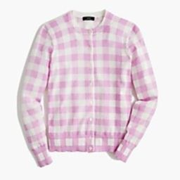 Cotton Jackie cardigan sweater in gingham | J.Crew US