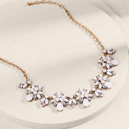 Jane Crystal Statement Necklace   Francesca's Collections