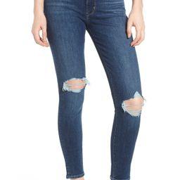 Levi's® 721™ Ripped High Waist Skinny Jeans (Dark Blue 1)   Nordstrom   Nordstrom