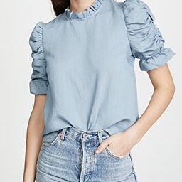 Ruched Sleeve Top | Shopbop