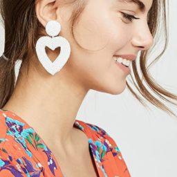 Beaded Heart Drop Earrings | Shopbop