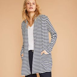 Lou & Grey Striped Conscious Cotton Pocket Open Cardigan   LOFT