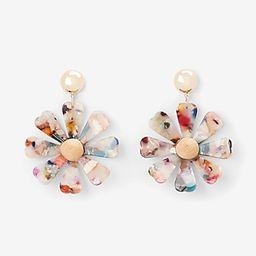 resin daisy drop earrings | Express