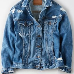 AE Boyfriend Fit Denim Jacket | American Eagle Outfitters (US & CA)