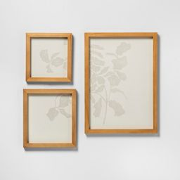 3pk Botanical Wall Art with Wood Frame - Hearth & Hand™ with Magnolia   Target