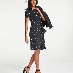 Polka Dot Tie Front T-Shirt Dress   Ann Taylor (US)
