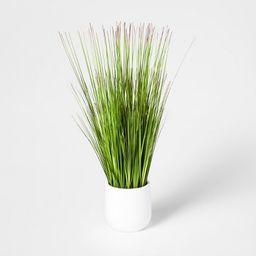 Artificial Grass Arrangement In Pot Green/White - Threshold™ | Target