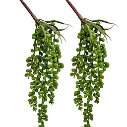 YEDREAM Artificial Succulent Plants Fake Plastic Hanging String Of Pearls Plant Simulation Lover ... | Amazon (US)