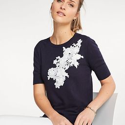 Floral Applique Sweater Tee | Ann Taylor (US)