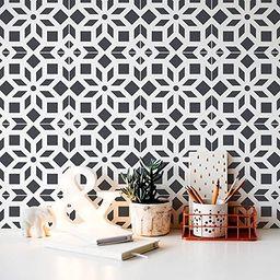 Kerala Tile Stencil - DIY Geometric Tile Stencils - Faux Cement Tiles - Reusable Stencils for Hom... | Amazon (US)