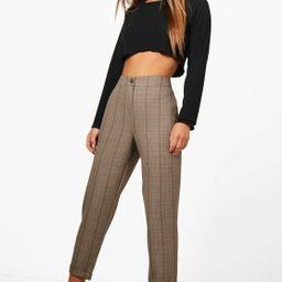 Petite  Checked Tapered Trouser   Boohoo   Boohoo.com (US & CA)