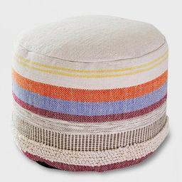 Woven Stripe Outdoor Pouf - Opalhouse™ | Target