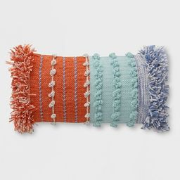Lumbar Chunky Woven Outdoor Pillow - Opalhouse™ | Target