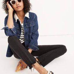 Cali Demi-Boot Jeans in Berkeley Black: Chewed-Hem Edition   Madewell