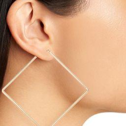Uncommon James by Kristin Cavallari Girl Boss Square Hoop Earrings | Nordstrom | Nordstrom