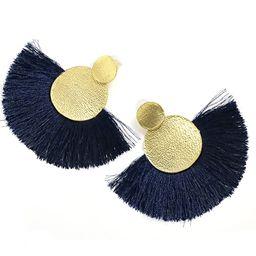MOOCHI Women's Handmade Thread Tassel Hanging Fashion Earrings Bohemian Statement Fringed   Amazon (US)