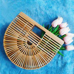 Women's Top Handle Bamboo Handbag Summer Beach Tote Bag   Amazon (US)